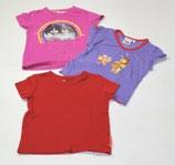 3 KA-Shirts Gr. 98, rot/violett/pink