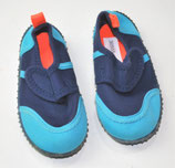 Badeschuhe, blau/orange
