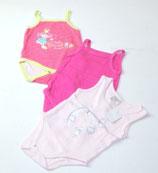 3 Bodys Gr. 62/68, rosa/pink/gestreift