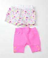 2 kurze Hosen Gr. 62/68, gemustert/pink