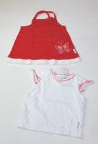 2 KA-Shirts Gr. 80, weiß/rot