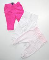 3 Hosen Gr. 62/68, pink/gestreift/gepunktet