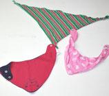 3 Dreieckstücherl, pink/gemustert/gestreift