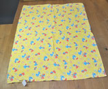 Deckenüberzug, gelb mit Entenmuster