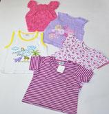 5 KA-Shirts Gr. 80, gestreift/gemustert/lila/weiß