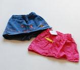 Hosenrock Jeans + Rock pink Gr. 74
