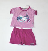 Shirt + Short Gr. 62, gestreift/beere