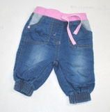 Jeans Gr. 62, blau/rosa