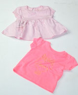 2 KA-Shirts Gr. 62, pink/rosa