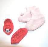 2 Paar Babypatscherl, rosa/pink