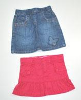2 Röcke Gr. 92, Jeans/pink