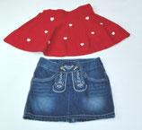 2 Röcke Gr. 110/116, rot/Jeans