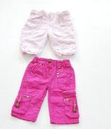 2 Hosen Gr. 68, pink/rosa