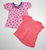 2 KA-Shirts Gr. 80/86, pink/gemustert