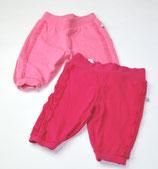 2 Jogginghosen Gr. 68, pink/rosa
