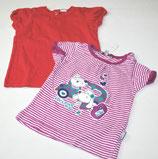 2 KA-Shirts Gr. 68, gestreift/rot