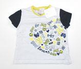 KA-Shirt Gr. 62, weiß/blau/gelb