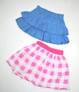 2 Röcke Gr. 98 (?), blau/rosa kariert