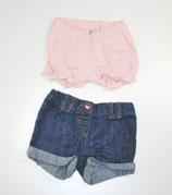 2 Shorts G.r 62, Jeans/rosa