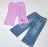 Jeans + Jogginghose lila Gr. 80