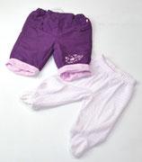 Hose violett + Nicki Hose rosa gestreift Gr. 62
