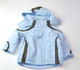 Winterjacke Gr. 74/80, hellblau/braun