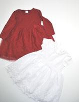 2 Kleider G.r 80, weiß/rot