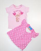 2 KA-Shirts Gr. 62, gepunktet/rosa