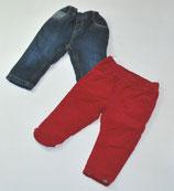Cordhose rot + Jeans Gr. 80