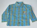 LA-Hemd Gr. 92, blau/grün/orange kariert