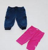 Hose blau+ 3/4 Leggins pink Gr. 62/68