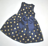Festliches Kleid Gr. 98, blau/gold