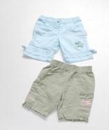 2 Shorts Gr. 62/68, mint/olive