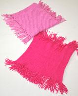2 Schlüpfschals, pink/rosa