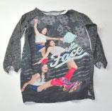 LA-Shirt Gr. 122/128, grau/gemustert