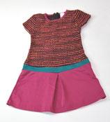 Kleid Gr. 128, gemustert/pink