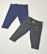 2 Leggings Gr. 62/68, blau/grau