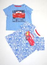 2 KA-Shirts Gr. 74, blau gemustert/blau