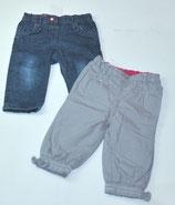 Jeans + HOse grau Gr. 74