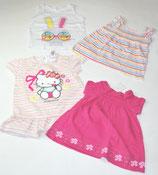 4 KA-Shirts Gr. 86, pink/gestreift/weiß