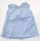 Kleid Gr. 74, weiß/blau gemustert