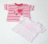 2 KA-Shirts Gr. 68, rosa gestreift