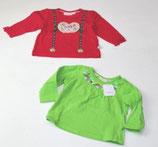 2 LA-Shirts Gr. 68, grün/pink