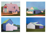 NC 001D Barns Variety 4: Note Cards 8 Pack