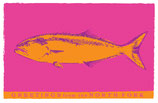NC 008 Orange Fish/Custom Option Note Cards 8 Pack