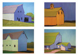 NC 001A Barns Variety 1: Note Cards 8 Pack