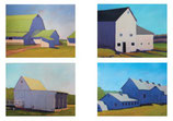 NC 001C Barns Variety 3: Note Cards 8 Pack