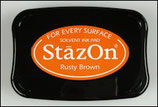 StazOn Solvent Ink Pad Rusty Brown