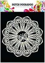 Dutch Doobadoo Mask art stencil - Spitzendeckchen mit Schmetterlingsmotiv