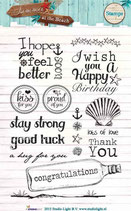 Studio Light Clear Stamps Summer at the Beach